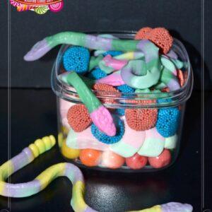ultra plastic square jar 500ml